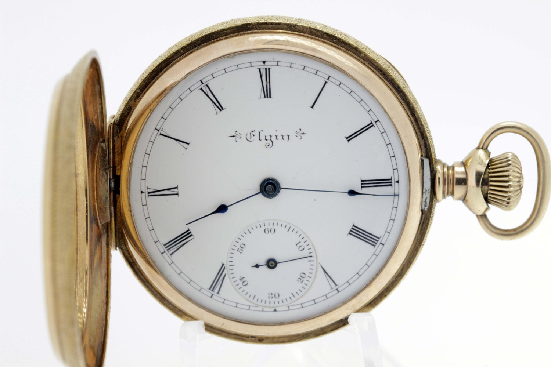 14k gold elgin pocket with shield
