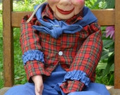 1973 Howdy Doody Ventriloquist Dummy Puppet Doll  Eegee National Broadcasting Comapny
