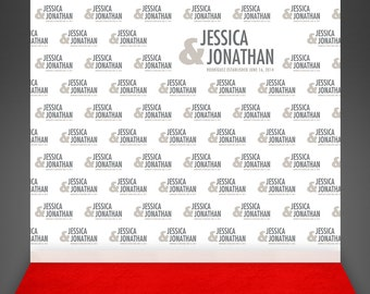 Red Carpet Wedding Backdrop - Step And Repeat Backdrop Wedding Photo Booth  Backdrop