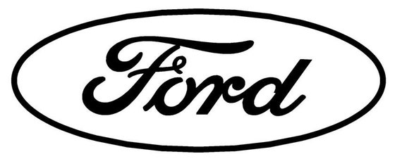 items similar to ford oval vinyl decal on etsy