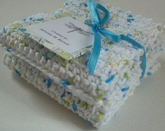 Crochet Pebbles Wash Cloths (Set of 2)