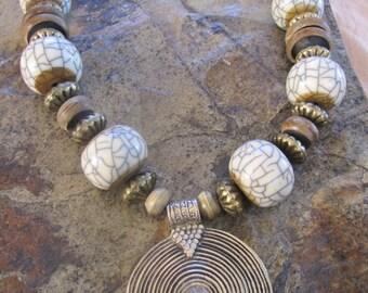 Unique Necklaces For Women- Bone Necklace Ethnic Necklace Indian Necklace Hippie Necklace Nomad Necklace Glamour Necklace Fashion Necklace