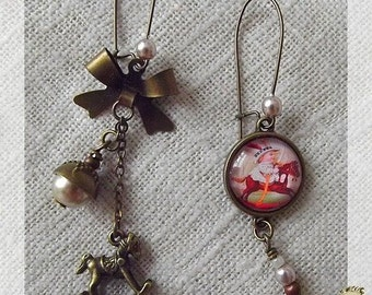 """Carousel"" earrings"