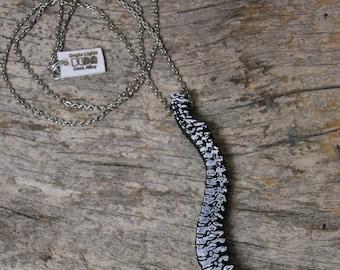 Spine Laser Cut Necklace