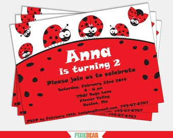 Ladybug Party Invitation - Ladybug Birthday - Lady Bug Invitation - Ladybug Party - Ladybug Birthday Invitation (Instant Download)