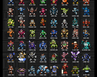 "Mega Man ""Know Your Foe"" 18x24"" Poster"