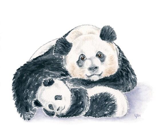 Panda And Cub Children S Clothing