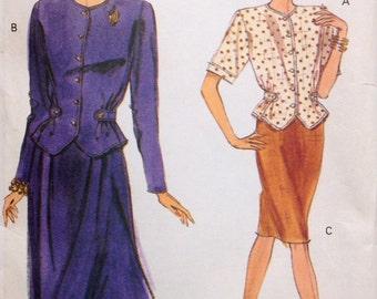 Vogue 7886 UNCUT Misses Top & Skirt