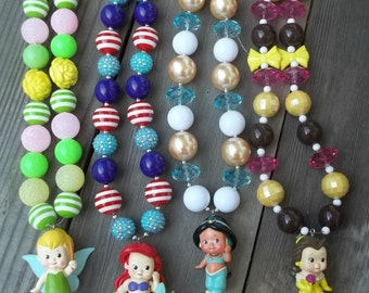 Disney Princesses Chunky Necklaces