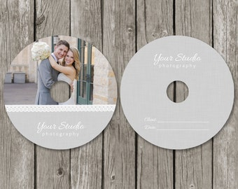 CD/DVD Label Templates - Wedding Photography CD Label Cover - Photo Dvd Packaging Design - CL05