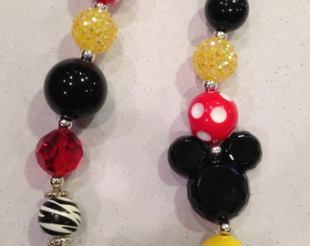 Disney inspired Bubblegum Necklaces
