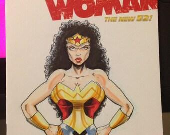 Original art Wonder women sketch cover