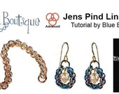 Chainmaille Tutorial- Jens Pind 3 bracelet or necklace - PDF