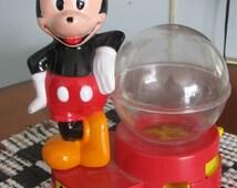 Collectible Mickey Mouse Penny Gumball Bank / Superior Toy Company / Disneyana / Mickey Coin Bank / Collectible Mickey Mouse /F153