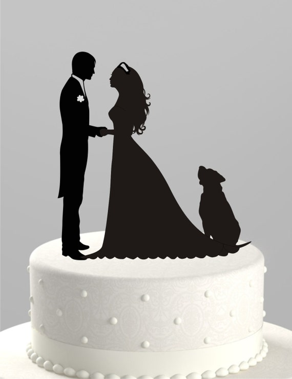 silhouette cake topper items similar to wedding cake topper silhouette groom and 7369