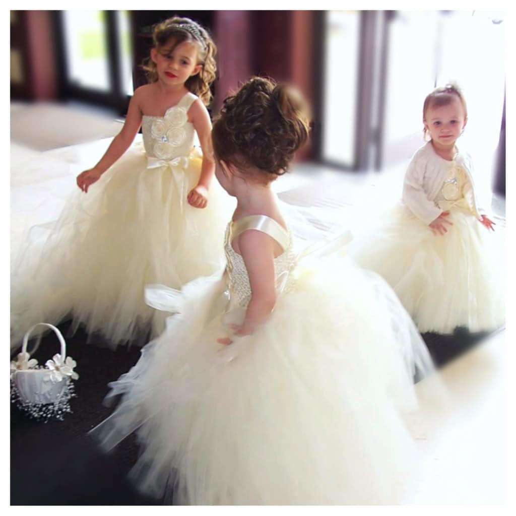Ivory Flower Girl Dress Ivory Tutu Dress by DreamingInBlush