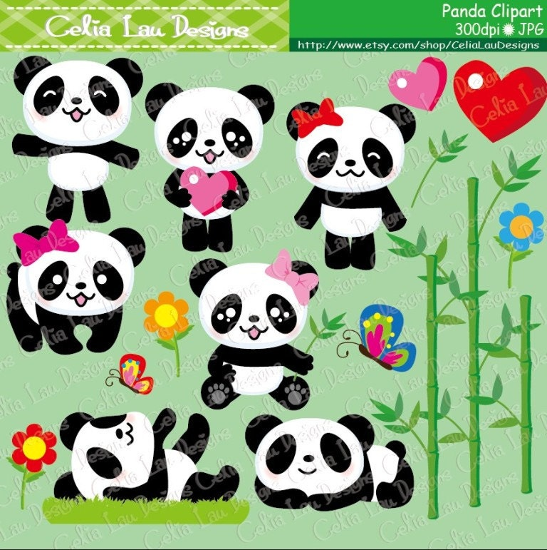 Panda Clipart/Cute Panda clipart / Baby Panda clip art and