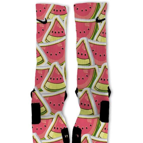 Nike elite socks customized watermelon custom nike elite socks on etsy