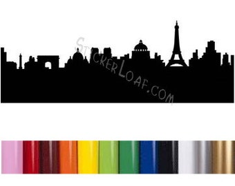 Detroit city skyline car decal sillhouette motor city 8 mile for Motor city pawn shop on 8 mile