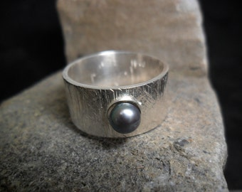 Sterling silver with Blue Pearl ring