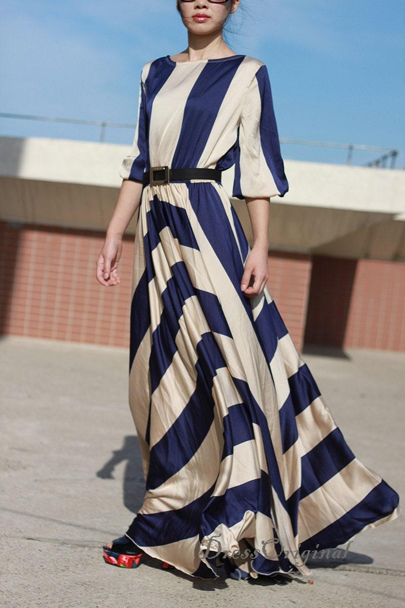 long 1950s dress qr