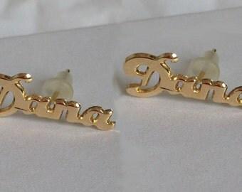 Personalized EARRINGS - Fashion Earrings, Gold Earrings ... Name Plate Earrings