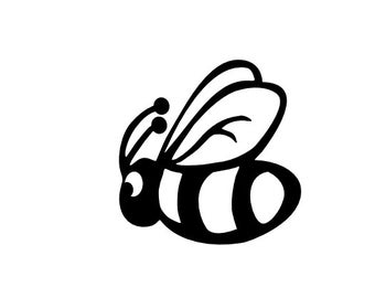 Set of 3 Bumblebees Vinyl Laptop Decal, Vinyl sticker, Vinyl Decal,