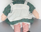 """Raggedy Ann Doll - 20"""" Tall -Handmade -  Great Outfit  -1960's-1970's"""