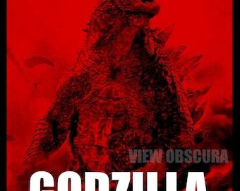 Godzilla 2014 - Godzilla's Rampage - Version B  -  Poster Print