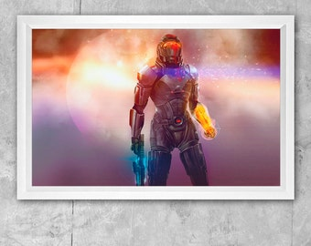 Large 11 x 17 Mass Effect Commander Shepard - The Last Stand Print