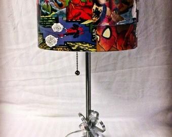 Custom Comic Book Lamp.