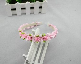 Pink Flower Girl Baby/Toddler Headband