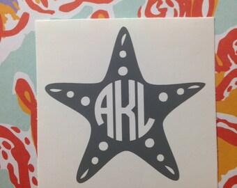 Starfish Monogram Decal