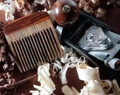 Beard Comb Wooden - Bocote Cocobolo Handmade Personalized Fine Tooth Premium Best Beard Kit Eco Friendly Gift Natural Pocket Static Free