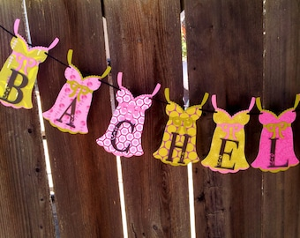 Pink and Pea Green BACHELORETTE PARTY Banner, (Other wording avail.), Pink BACHELORETTE Party Decorations, Pink Bridal Shower Decorations