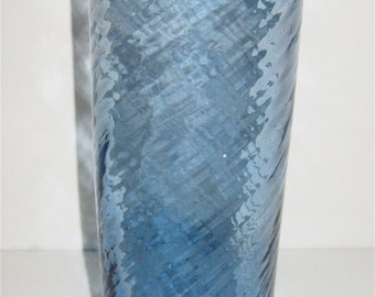 Glass Vase/ Hand Blown Swirl