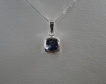 Iolite Sterling Silver Pendant