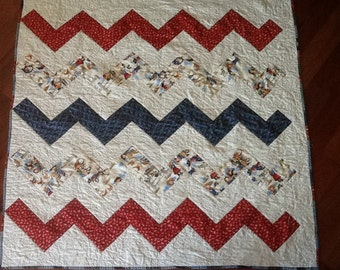 Cowboy Quilt for the Little Buckaroo.  Measures 62 x 62 inches