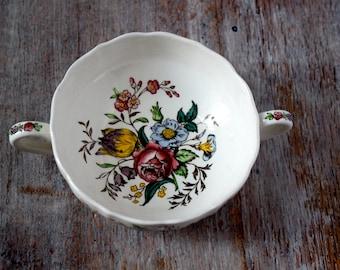 Vintage Copeland Spode Floral Soup Bowl