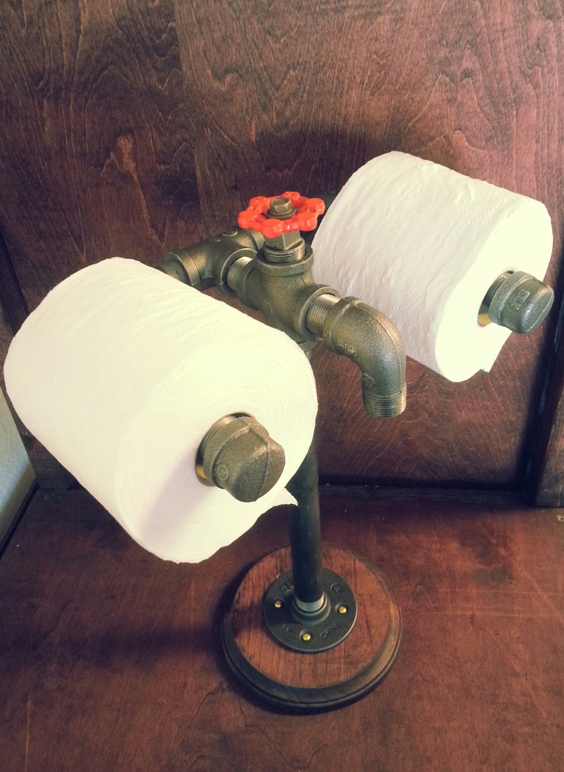 Toilet Paper Holder Floor Free Standing Double By