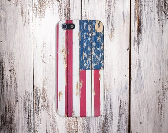 Chipped American Flag July 4 Case,iPhone X, iPhone X Plus, Protective iPhone Case, Galaxy s8, Samsung Galaxy Case, CASE ESCAPE, 4th July