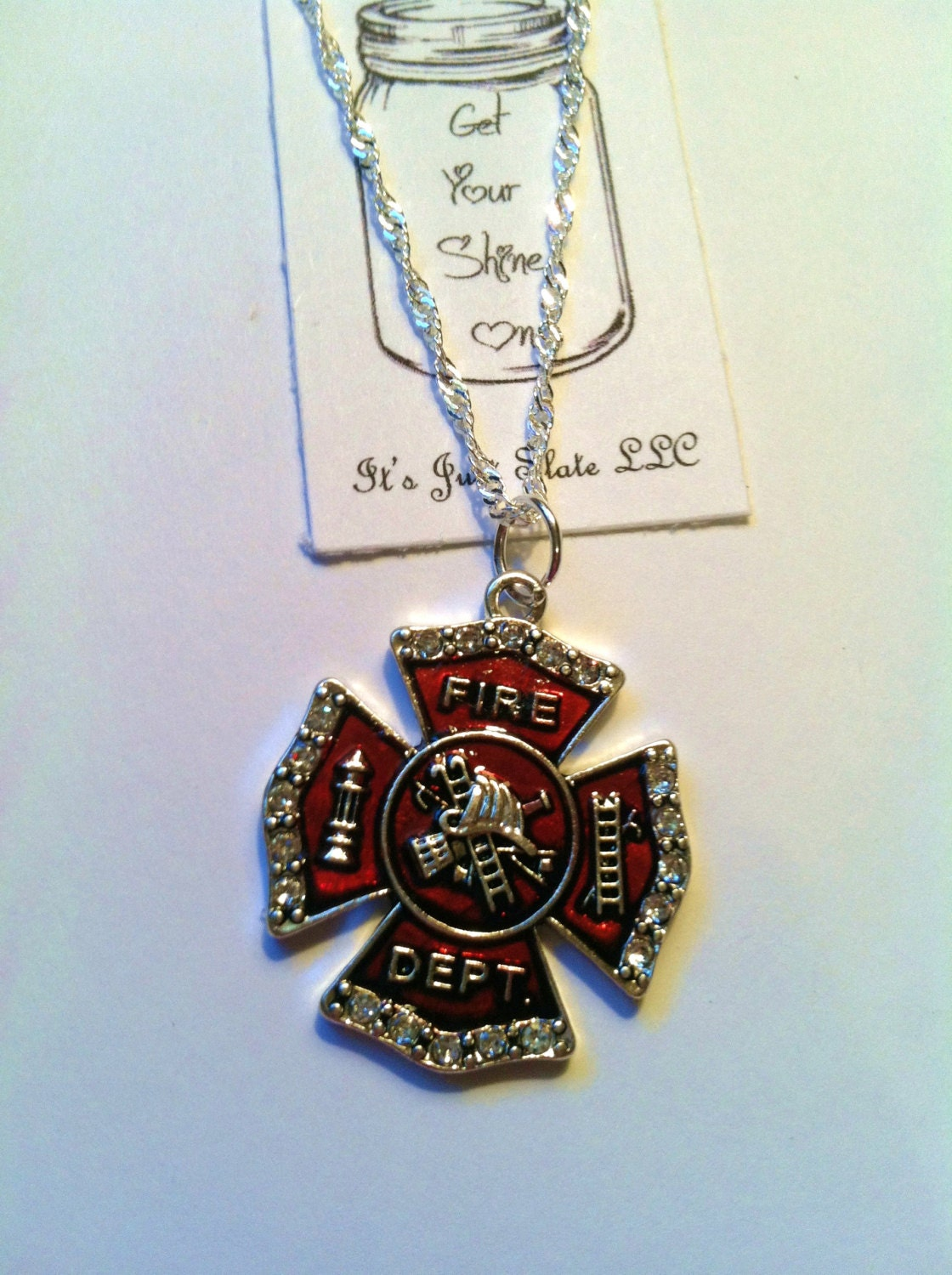 sterling silver firefighter necklace firefighter by