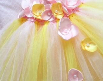 Gorgeous Pink Lemonade Petal Flower Girl Tutu Dress for your 6-18 Months Baby Girl First Birthday