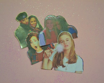 Clueless Characters 90's Glossy Stickers