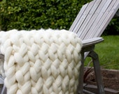 Super Chunky Knit Throw Blanket (Wool)