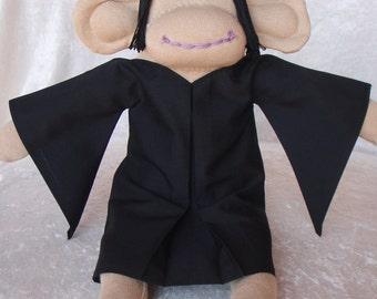 Sock Monkey / Severus Snape Inspired / Harry Potter / Harry Potter Baby / Harry Potter Nursery / Harry Potter Gift / Slytherin / Professor