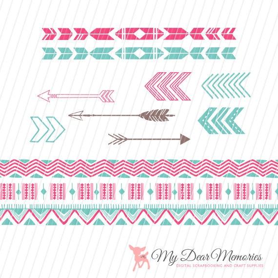 Aztec Arrow Clip Art Arrows Clip Art Tribal Clip
