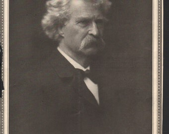 Portrait of Samuel Langhorne Clemens, or Mark Twain, taken shortly before his death - cele156