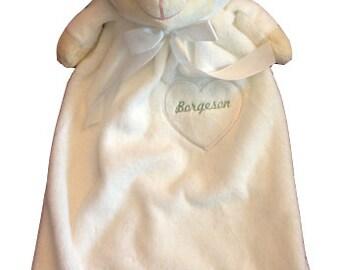 Personalized Embroidered Fleece Animal Blankeys