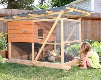 The Garden Ark Mobile Chicken Coop Plan eBook (PDF), Instant Download, Imperial Units (Feet/Inches)